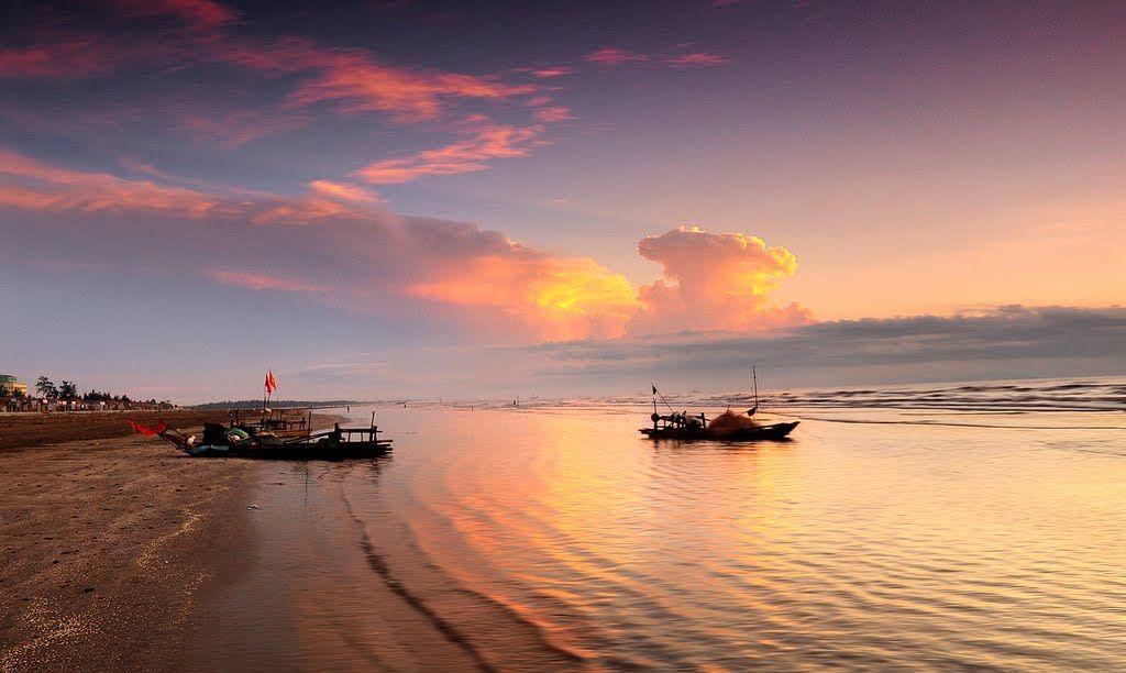 Hoàng hôn biển Diễn Thành