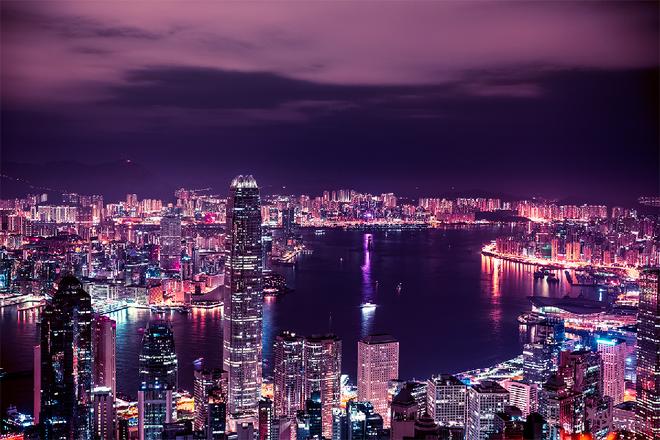 hongkong-ve-dem-nhin-tu-tren-cao