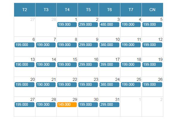 Bảng giá vé máy bay giá rẻ đi Quy Nhơn - Bình Định từ Sài Gòn